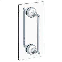"""Venetian 6"""" Double Shower Door Pull/ Glass Mount Towel Bar"""