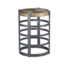 Hidden Treasures Barrel Strap End Table