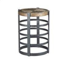 Hidden Treasures Barrel Strap End Table