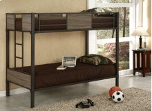 Twin/twin Wood/metal Bunk Bed