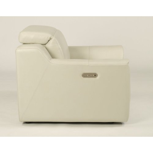 Reign Leather Power Recliner with Power Headrest