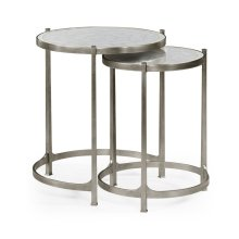 glomise & Silver Iron Round Nest of Tables
