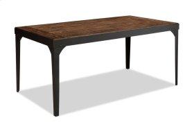 Hollister Metal/Wood Reg Dining Table