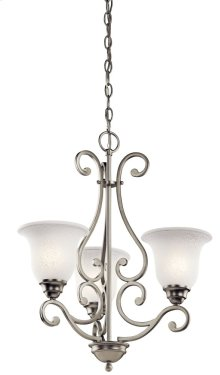 Camerena 3 Light Chandelier Brushed Nickel