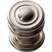 Campaign Round Knob 1 1/4 Inch - Brushed Nickel