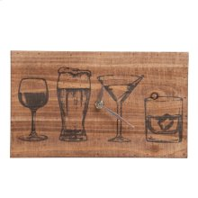 Drink Lineup Table Clock
