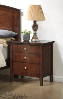 Whiskey River 3 Drawer Nite Stand