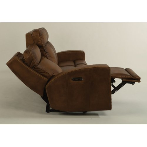 Archer Leather Power Reclining Sofa with Power Headrests