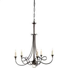 Visual Comfort SC5015BZ Eric Cohler Twist 5 Light 26 inch Bronze Chandelier Ceiling Light