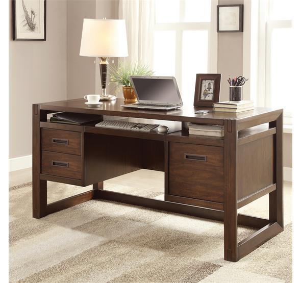 75831 in by Riverside in Boise, ID - Riata Computer Desk Warm Walnut finish