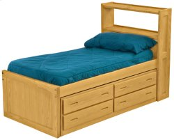 Captain's Bookcase Bed Drawer Set, Twin