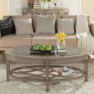 Parkdale - Oval Coffee Table - Dove Grey Finish Product Image
