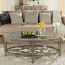 Parkdale - Oval Coffee Table - Dove Grey Finish