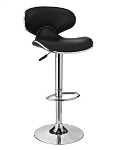 Chrome and Black PU Barstool Product Image