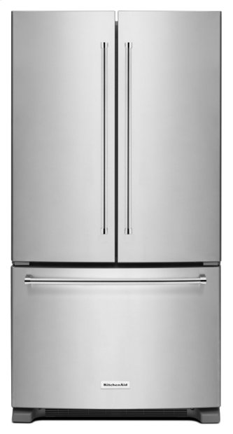 20 cu.ft. 36-Inch Width Counter-Depth French Door Refrigerator with Interior Dispense - Stainless Steel