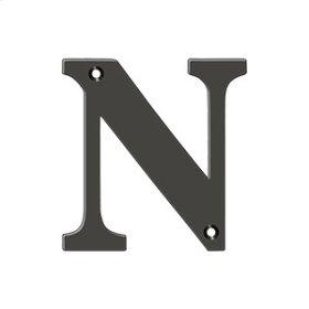 "4"" Residential Letter N - Oil-rubbed Bronze"