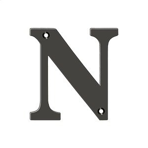 """4"""" Residential Letter N - Oil-rubbed Bronze Product Image"""