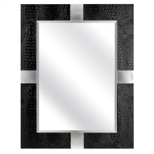 Loyd Black Faux Leather Mirror