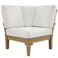 Marina Outdoor Patio Teak Corner Sofa in Natural White Product Image