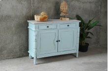 CC-CAB1296TLD-SBLW  Beach Blue Cottage Cabinet  Buffet  Sideboard