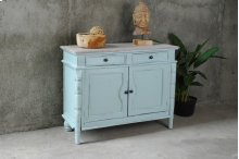 CC-CAB1296TLD-SBLW  Beach Blue Cottage Cabinet  Buffet  Sideboard