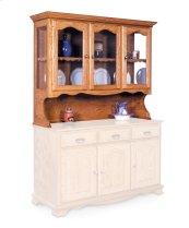 "Classic Open Hutch Top, 63 1/2"", Antique Glass"