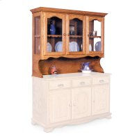 """Classic Open Hutch Top, 63 1/2"""", Antique Glass Product Image"""