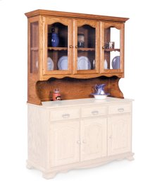 Classic Open Hutch Top, Large, Antique Glass
