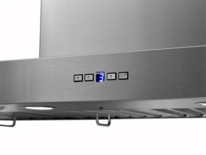 "Gorgona - 48"" x 24"" Stainless Steel Chimney Range Hood with iQ12 Blower System, 1200 CFM"