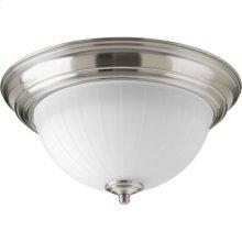 "One-Light 11-3/8"" Etched Ribbed Glass LED Flush Mount"