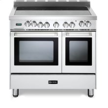 "White 36"" Electric Double Oven Range"