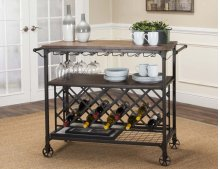 Craft Rustic Elm Serving Cart