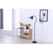 2801 Black Floor Lamp