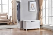 6609 White Storage Bench Product Image