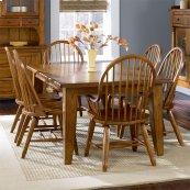 Rectangular Leg Table - Oak
