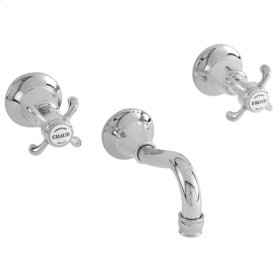 White Wall Mount Tub Faucet