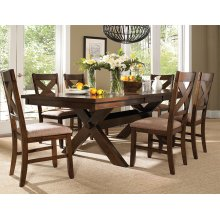 7-Pc. Kraven Dining Set - (1) 713-417 Dining Table & (6) 713-434 Side Chairs