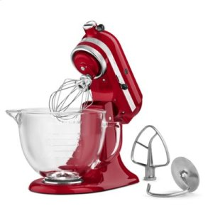 Artisan® Design Series 5 Quart Tilt-Head Stand Mixer with Glass Bowl - Grenadine