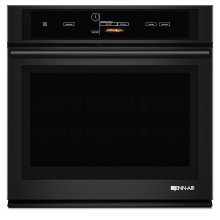"30"" Single Wall Oven with V2™ Vertical Dual-Fan Convection System, Black Floating Glass w/Handle"