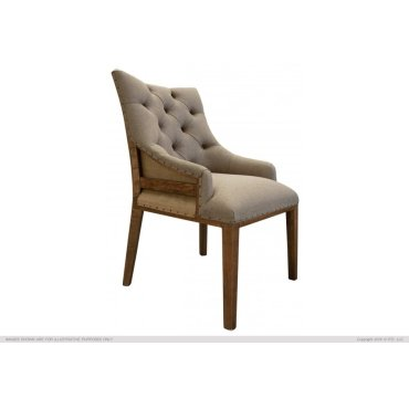 Tufted Chair w/ deconstructed backrest