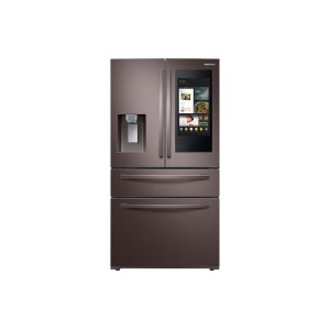 Samsung22 cu. ft. Counter Depth 4-Door French Door Refrigerator with Touch Screen Family Hub™ in Tuscan Stainless Steel