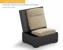 JumpSeat Ottoman, Leather