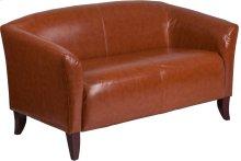 HERCULES Imperial Series Cognac Leather Loveseat