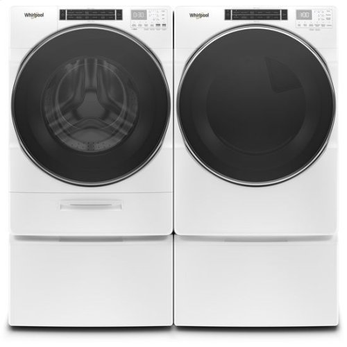 Whirlpool® 7.4 cu.ft Front Load Gas Dryer with Intiutitive Touch Controls, Steam Refresh Cycle - White