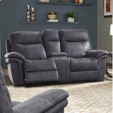 Mason Charcoal Power Console Loveseat