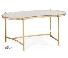 Gilded Kidney Desk for Glass Top