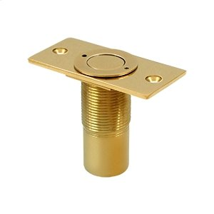 "Dust Proof Strike, Adjustable, 2-7/8"" x 1-3/8"" - PVD Polished Brass"