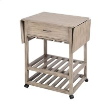 Tristan Grey Twilight Contemporary Mobile Serving Cart