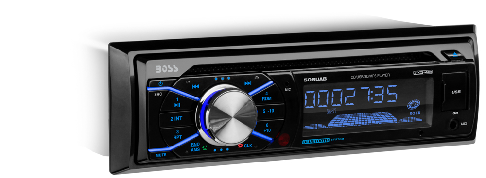 Single-DIN, CD/MP3 Player Bluetooth