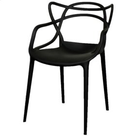 Russell Molded PP Arm Chair, Black